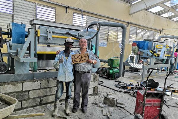 Beston Mesin Baki Telur di Dominika