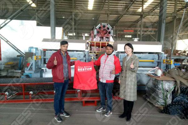 Beston Machinery Avec les clients indiens