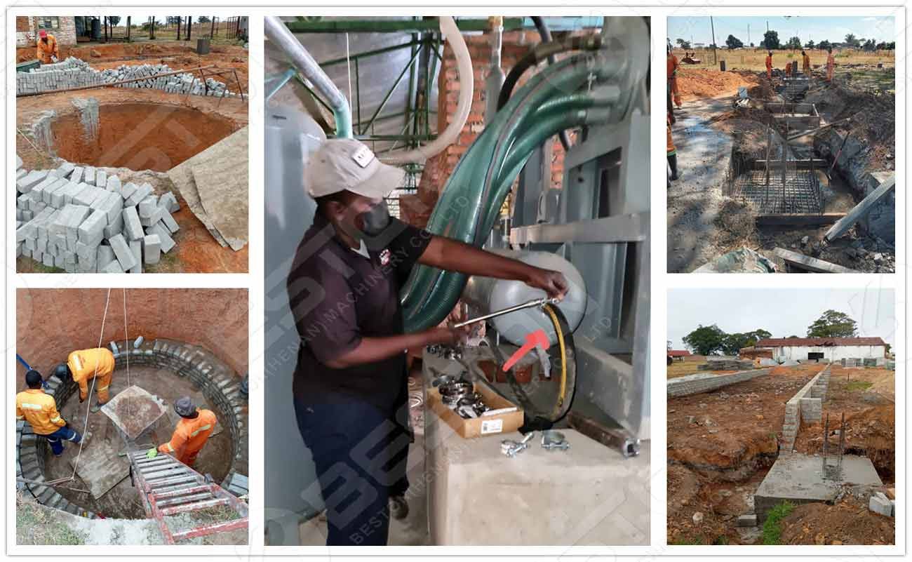 Egg Tray Machine With Brick Drying in Zimbabwe