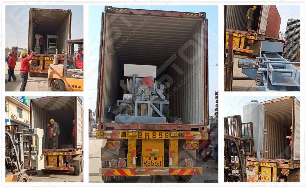 Shipment of Egg Tray Plant to Botswana
