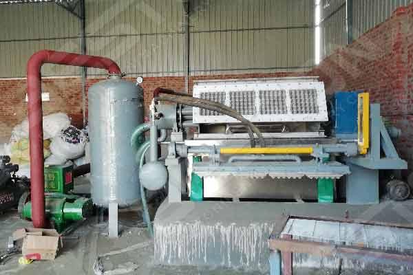 BTF4-4 Egg Tray Making Machine Installed in India