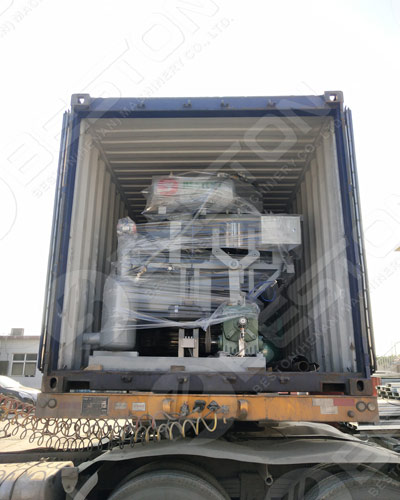 Loaded Egg Carton Machine to Spain