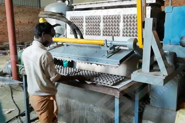 Making Paper Egg Trays in India