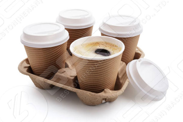 Paper Coffee Cup Tray Made By China Egg Tray Making Machine
