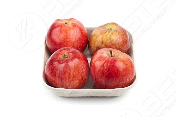 Bandeja de manzana moldeada en papel