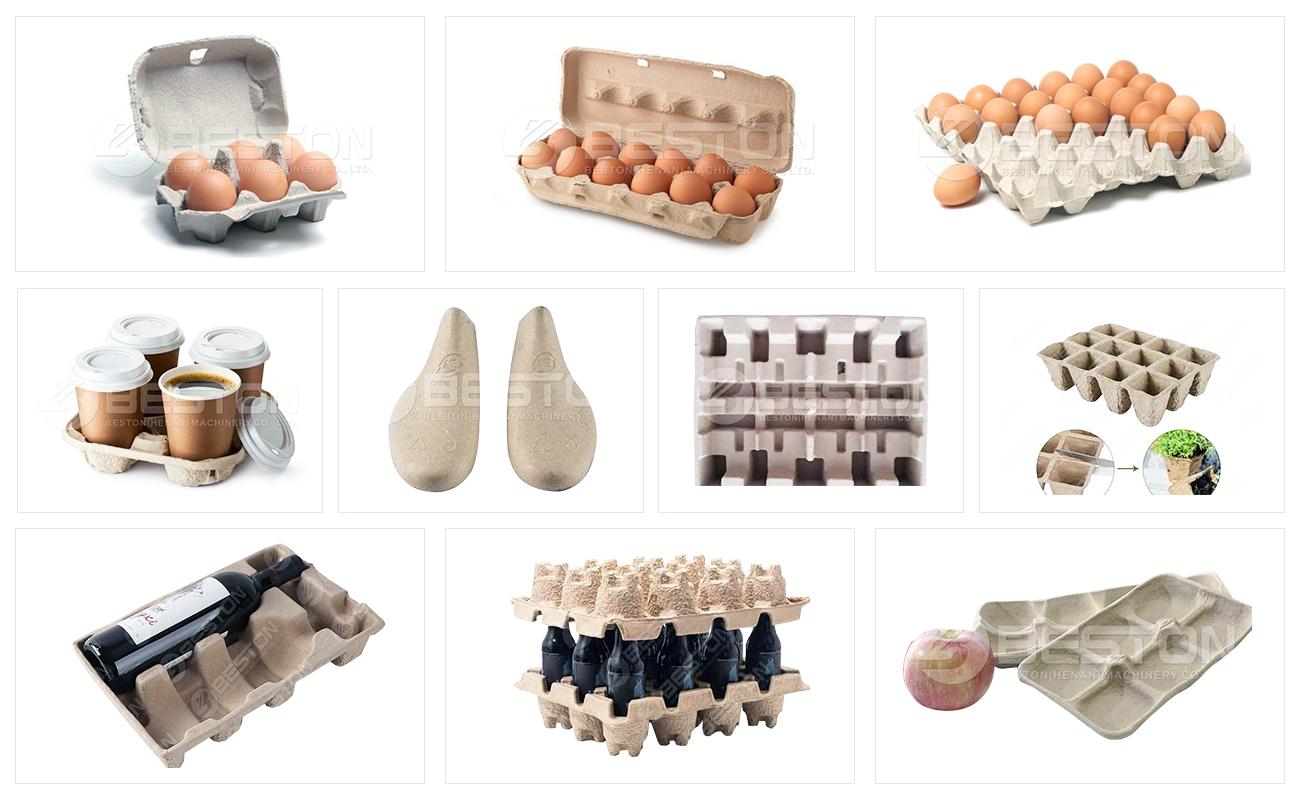 Produits moulés en pâte à partir de la machine de fabrication de plateaux