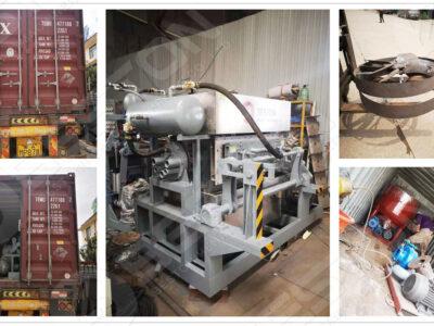 BTF3-4 Egg Tray Making Machine Loaded to Zambia