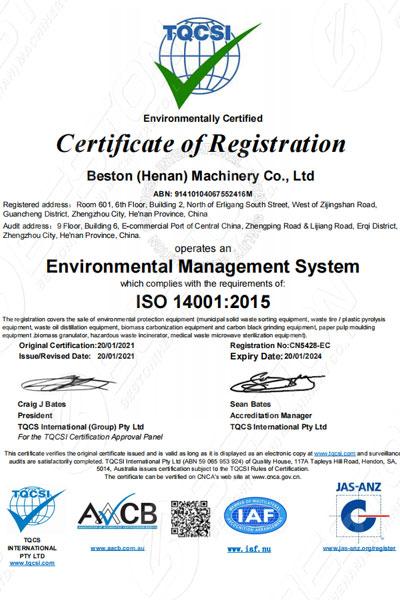 Beston Certificación EMS