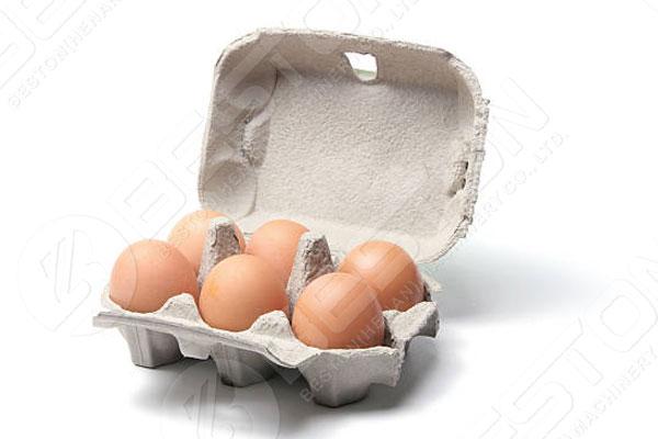 Egg Carton Made By Beston Pulp Tray Machine