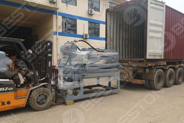 Shipping Details of Egg Tray Machine to Columbia