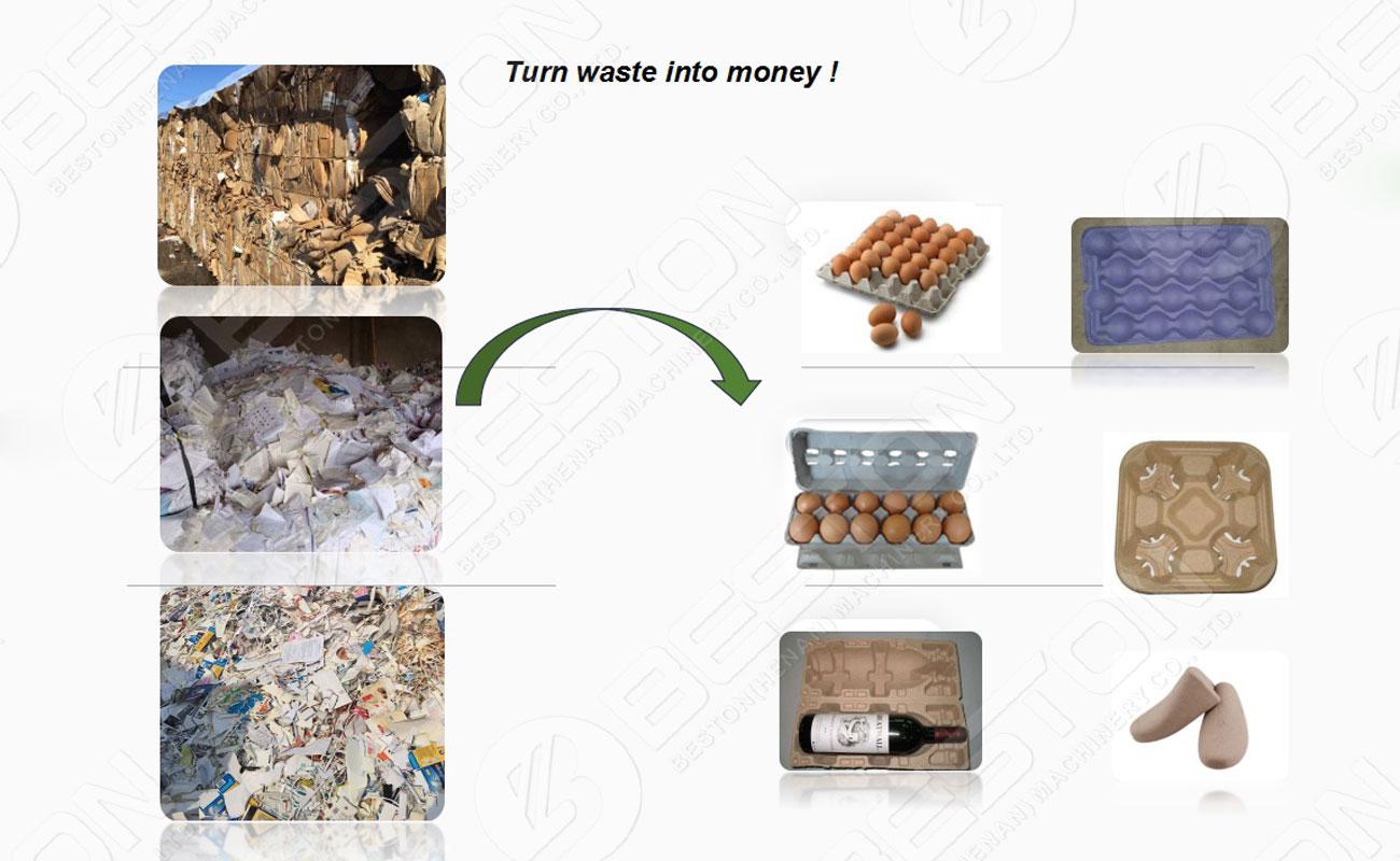 Convierta los desechos en bandejas de papel para huevos