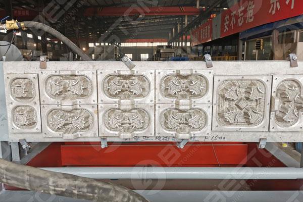 Molde de aluminio para portavasos de café