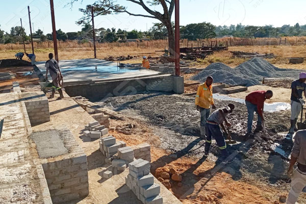 Building Egg Tray Drying System in Zimbabwe