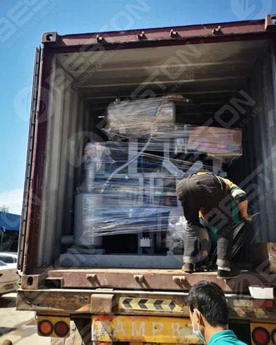Egg Tray Machine Loaded to Bangladesh