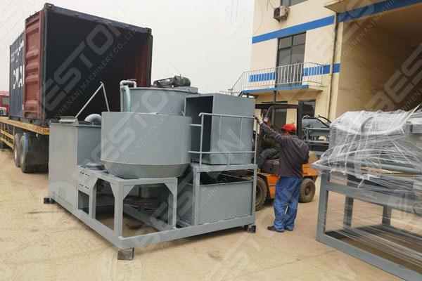 Detalles de envío de la máquina de bandejas de huevos a Zambia