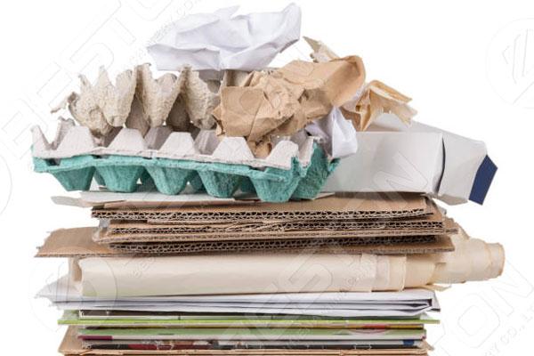 Diversos materiales de desecho para la fabricación de bandejas para huevos en Botswana